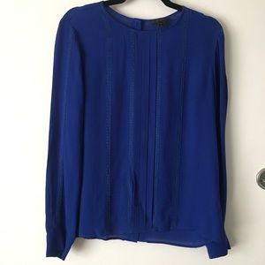 J.Crew Pleated Blouse with Lace Details